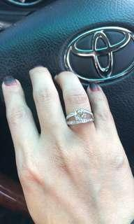 Solitaire yellow diamond ring
