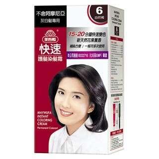 美吾髮快速護髮染髮霜(6號自然褐)