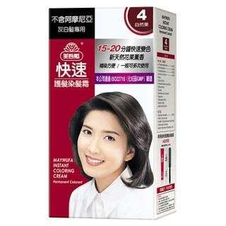 美吾髮快速護髮染髮霜(4號自然粟)