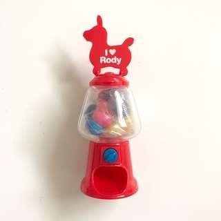 Rody gum ball machine toy