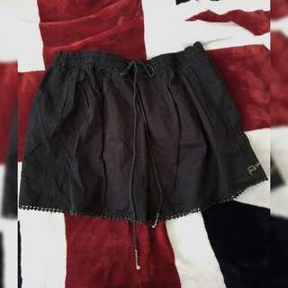 roxy black skirt