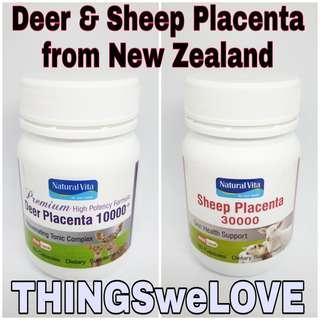 🚚 Natural Vita Deer Placenta 10000mg Sheep Placenta 30000mg 60 Pills