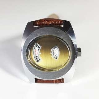 Vintage Jump Hour Watch - Mechanical Winding