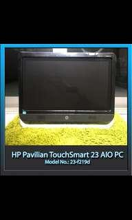 """HP Pavilion TouchSmart 23"""" inch AIO all in one"""