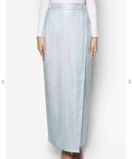 Zalia jacquard wrap skirt