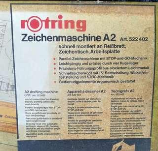 Rotring a2 drafting machine