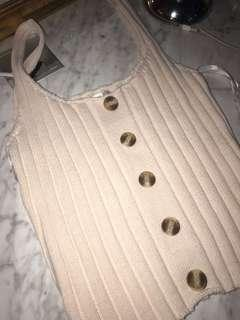 knitted button top