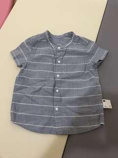 🚚 Lativ條紋全棉襯衫送短褲