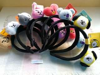 <LAST UNIT! > BT21 OFFICIAL HEADBAND #BT21 #LINEFRIENDS #READYSTOCK