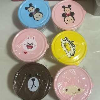 All 6 sets 12 food containers $16