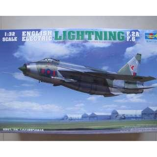TRUMPETER 1/32 ENGLISH ELECTRIC (BAC) LIGHTNING F.2A/F.6
