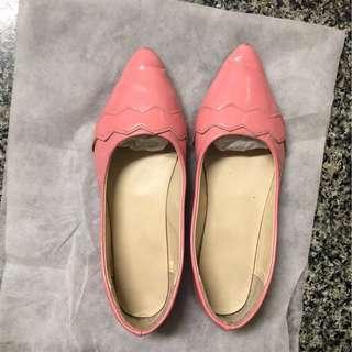 🚚 粉色亮片平底鞋