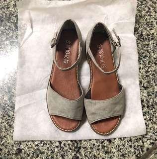 🚚 牛仔色平地涼鞋