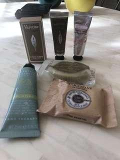 Loccitane and Crabtree & Evelyn bundle