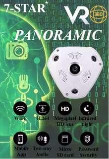 IP Camera-Plug & Play Wireless Panoramic 360 Degree True 3MP Full-HD Wifi IP VR Camera-(True HD 3MP/360/180 Degree Panoramic View/Ultra HD Night Vision/Two-Way Clear Audio/Support 64GB Memory/Loop-Recording/Motion Detection/APP:VR CAM or IP Pro) 7-STAR*
