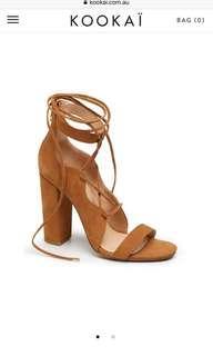 Kookai laceup heels size 38 - worn once