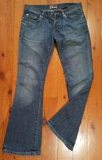 Lee Lo-Ryder flare jeans Size 9 100% cotton
