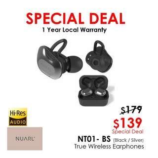 NUARL NT01 Hi-Res Audio True Wireless Stereo Earphones