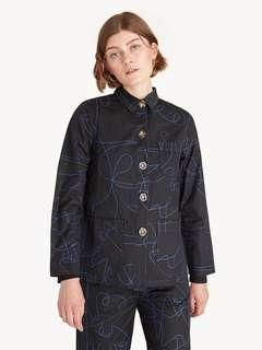 POMELO Abstract Front Pocket Shirt