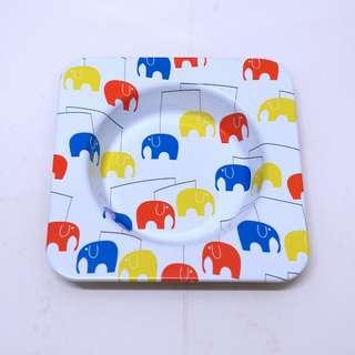 Whimsical Elephant Tin Trinket Tray