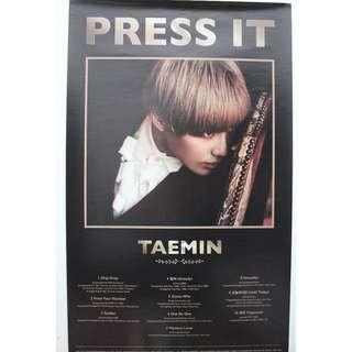[Official] Poster SHINee Taemin - Press It