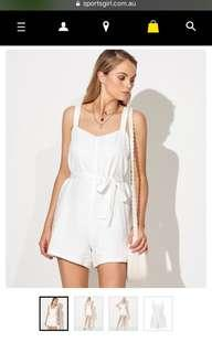 Sportsgirl white playsuit