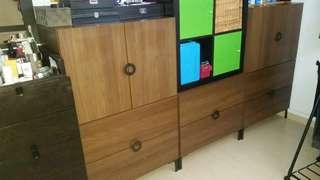 Ikea dark brown cabinets set .$40 onlyfor all 3 units