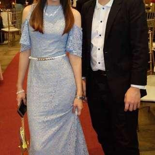 For rent Pastel blue long gown