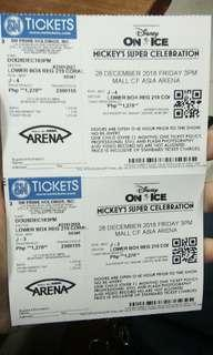 DISNEY ON ICE BIG SALE 500 EACH .2 tickets available