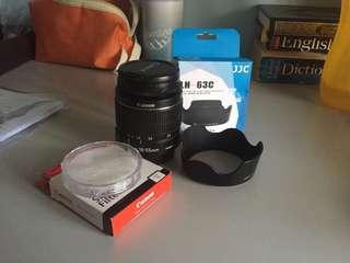 Canon 18-55mm (Kit Lens) + Ori Canon UV Filter + JJC Lens Hood