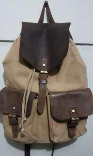 Backpack Leather canvas Gamarra