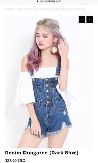 Carrislabelle Denim Dungaree (Dark Blue)