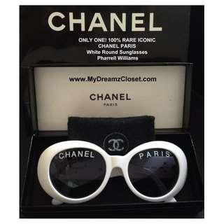 Authentic Chanel White Sunglasses