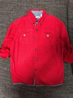 Boys Red Shirt (Size 6 / 114cm)