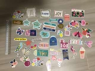 44 Die Cut Cardstock Shapes Stickers