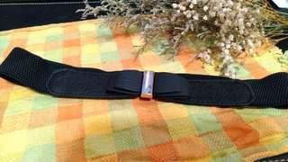 🚚 黑色寬蝴蝶結扣環腰鬆緊帶型腰帶