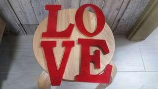 LOVE 紅字擺設 - 結婚 婚紗相適用(可送贈)