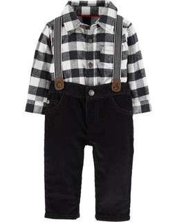 Carter's 襯衫包屁長褲二件組