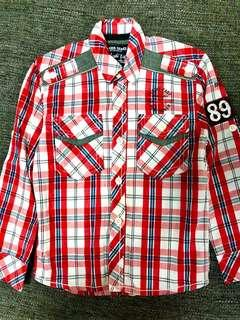 Red Checkered Boys Shirt (Size 4)