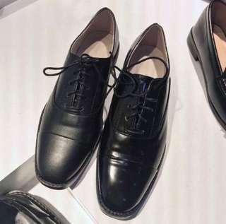 Banbi. co購入 korea黑色綁帶牛津鞋