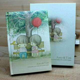 🚚 Amy&Tim日記本-紅氣球