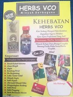 Minyak herbs vco