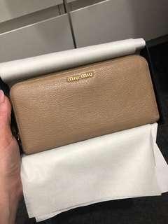 MIU MIU Madras zip around wallet
