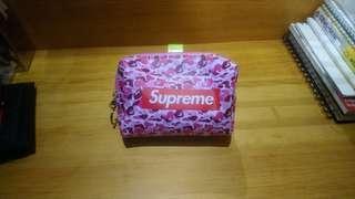 🚚 Supreme 潮牌零錢包 鑰匙包(稀有粉紅迷彩)