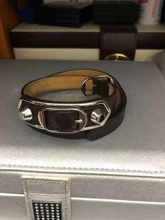 Balenciaga classic metal wrap bracelet