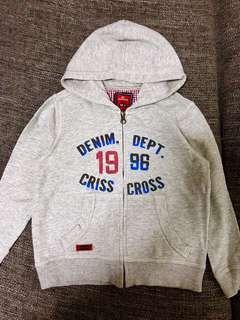 Criss-Cross Boys Hoodie Jacket (Size 4-5 years)