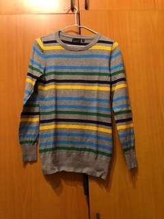 🚚 Hersh橫條紋棉長袖針織衫M號