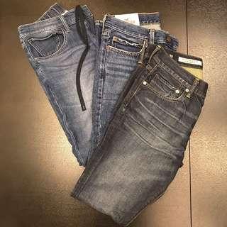 Men Jeans 👖 Hollister/ Gap/ Uniqlo