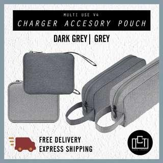 🚚 🔅cT🔅 V4 LARGE Accessory charger cable pouch pencil case laptop case pouch casing large and small options size