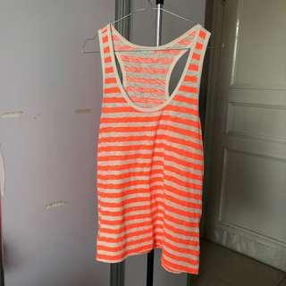 Orange white glow beach tank top